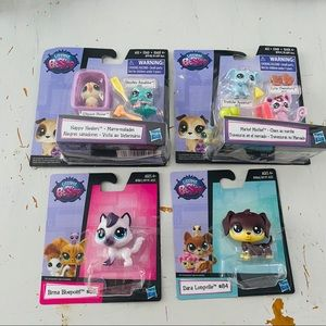 Littlest PetShop lot of 4 figurines toy NEW